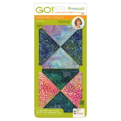 "GO! Quarter Square Triangle-4"" Finished Square by Alex Anderson"
