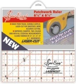 """Sew Easy Ruler 6.5"""" x 6.5"""""""