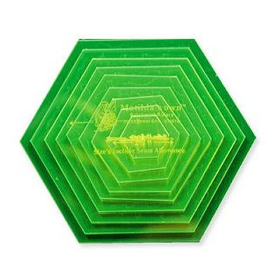 Small hexagon template set handcrafters for Hexagon quilt template plastic