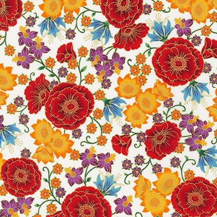 Florentine Garden by Hyun Joo Lee: Cotton Quilting Fabric
