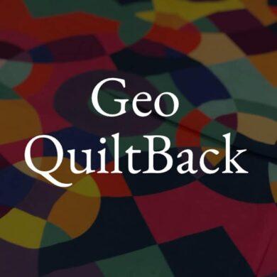 Geo QuiltBack